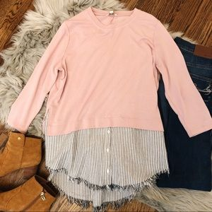 Kate Pink Layered Look Sweater